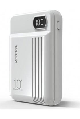 Reddax Rdx-250 Dijital Led Göstergeli Taşınabilir Şarj Aleti 10.000 mAh Beyaz