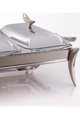 MAT Steel Çift Gözlü Dikdörtgen Mum Isıtıcılı Set