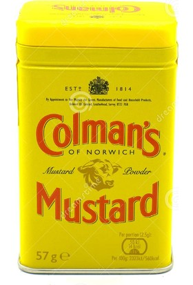 Colman's English Mustard Ithal Toz Hardal 57 Gram Colmans