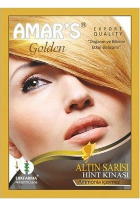 Amars Hint Kınası Altın Sarısı 6'lı Set