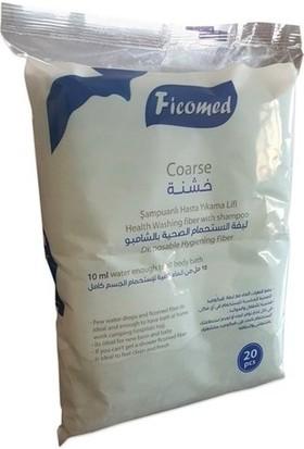Curelex M Beden120 Adet +Ficomed Şampuanlı Vücut Temizleme Lifi