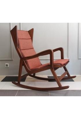 Kardelen Mobilya Sallanan Sandalye Dinlenme Koltuğu Rahat Ceviz