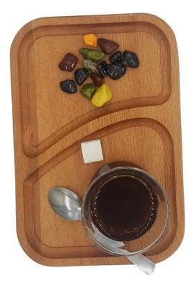 Nazar Antalya Çay Kahve Sunum Ahşap Altlık El Yapımı Dikdörtgen