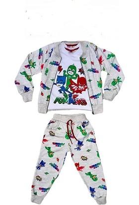 Tarz Kids Pijamaskeliler 3'Lü Takım Mevsimlik Unisex Çocuk Eşofman Takımlar