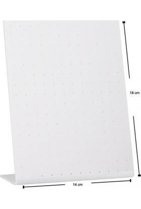 Aydindecor Küçük Pleksi Ayaklı Beyaz 18-14 cm Küpe Standı