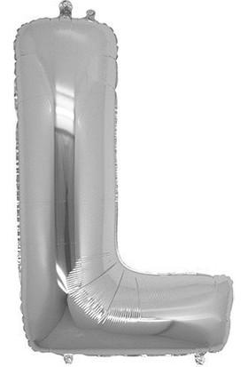 Bursapazarı 16'' 40 cm Folyo Harf Balon Gümüş L