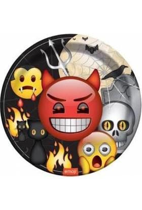 Bursapazarı Emoji Konsept Karton Tabak Emoji Korku 8'li