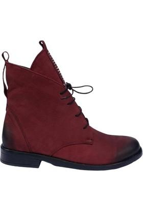 Marine Shoes Kadın Klasik Bordo Bot 019-03