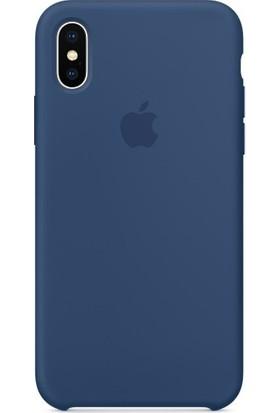 Gezegenaksesuar Apple iPhone X / XS Lansman Kılıf - Lacivert
