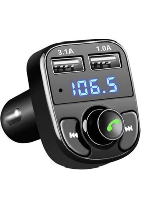 PolyGold Car X8 BT/USB Araç FM Transmitter