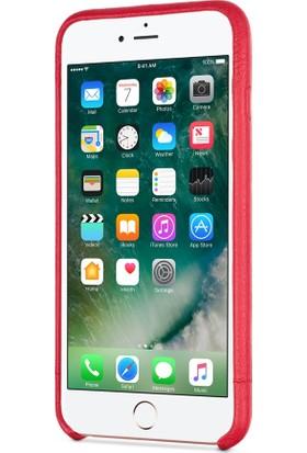Sena Apple iPhone 7 Plus Deri Kapak Kılıf - Kırmızı
