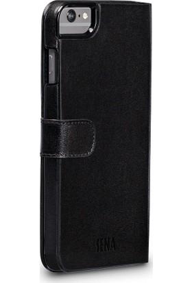 Sena Apple iPhone 8 Plus Deri Cüzdan Kılıf - Siyah