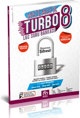 Model Yayıncılık Matematik Turbo 8.Sınıf LGS Soru Bankası