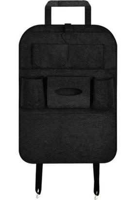 Ankaflex Araba Araç Oto Koltuk Arkası Keçe Organizer Koruyucu Koltuk Arkası Eşya Düzenleyici Ceplik Çanta Örtü