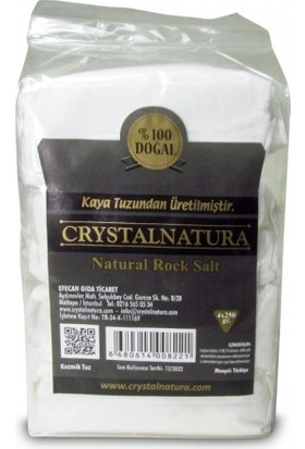 Crystal Natura Crystalnatura Doğal Çankırı Kaya Tuzu Öğütülmüş