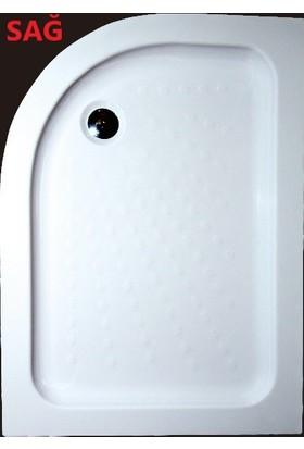Ubm Banyo Asimetrik Oval Duş Teknesi Sağ H:20 70 x 100 cm