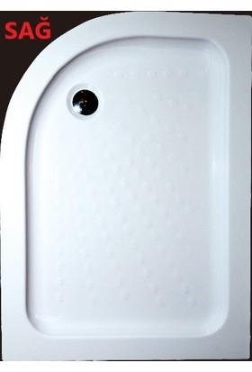 Ubm Banyo Asimetrik Oval Flat Duş Teknesi Sağ 80 x 110 cm