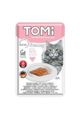 Tomi Sterilised Beef Biftekli Kısır Kedi Pouch Yaş Mama