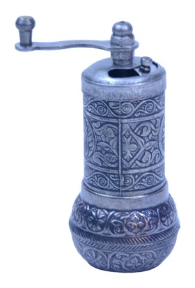 Wholesale Osmanlı Motifli Kahve ve Baharat Değirmeni Koyu Gümüş