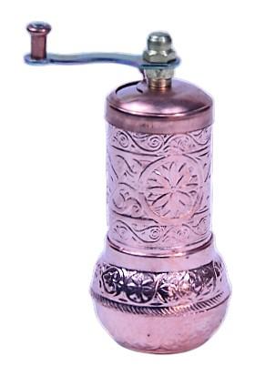 Wholesale Osmanlı Motifli Kahve ve Baharat Değirmeni Açık Bakır