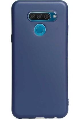 Kaltel Gsm LG Q60 Mat Premier Silikon Kılıf - Mavi