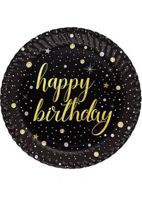 Bursapazarı Roll-Up Party Dreams Karton Tabak Işıltılı Doğum Günü 23 cm 8'li