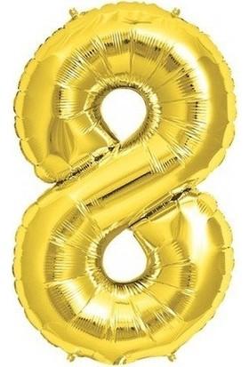 Bursapazarı 40 x 100 cm Folyo Rakam Balon Gold 8
