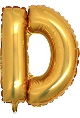 Bursapazarı 16 x 40 cm Folyo Harf Balon Gold D