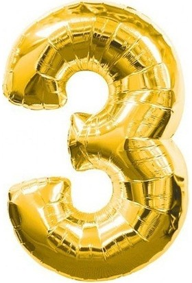 Bursapazarı 40 x 100 cm Folyo Rakam Balon Gold 3