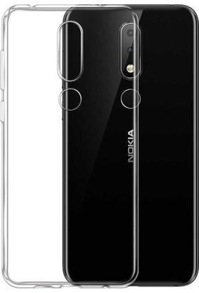 Ehr. Nokia 5.1 Plus Ultra İnce Soft Şeffaf TPU Silikon Kılıf Şeffaf