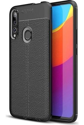 Ehr. Xiaomi Y9 Prime 2019 Deri Dokulu Missing Kılıf + Nano Ekran Koruyucu Cam Siyah