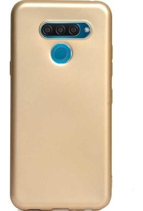 Ehr. LG Q60 Soft TPU Priming Kılıf + Nano Ekran Koruyucu Gold