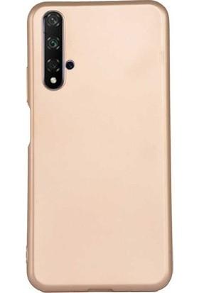 Ehr. Huawei Honor 20S Soft TPU Priming Kılıf + Nano Ekran Koruyucu Gold