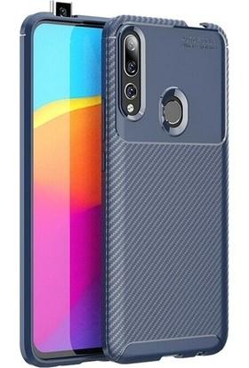 Ehr. Huawei Y9 Prime 2019 Karbon Brushed Megro Arka Kapak Lacivert