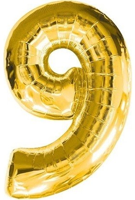 Bursapazarı 40 x 100 cm Folyo Rakam Balon Gold 9