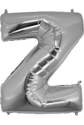 Bursapazarı 16 x 40 cm Folyo Harf Balon Gümüş Z