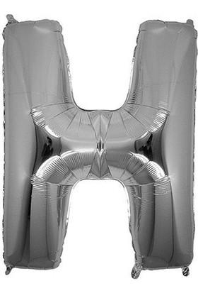 Bursapazarı 40 x 100 cm Folyo Harf Balon Gümüş H