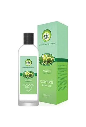 Green World Yaban Inciri Kolonyası Cam Şişe 200 ml