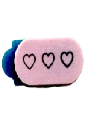 Kamera Kapatıcı Hearts Mini Açık Pembe