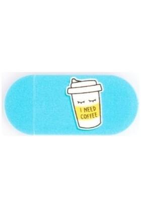 Kamera Kapatıcı I Need Coffee Mavi