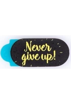Funsylab Kamera Kapatıcı Never Give Up Mini Siyah