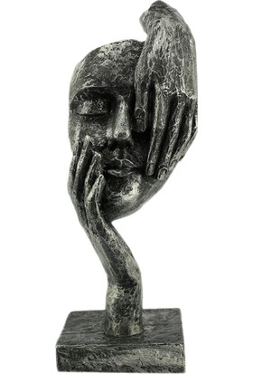 Hunga Görmedim Figürlü Biblo Gümüş Renk
