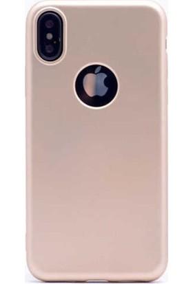 Lorexpress Apple iPhone XR Premium Rubber Mat Silikon Kılıf - Gold