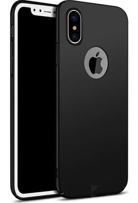 Lorexpress Apple iPhone X Premium Rubber Mat Silikon Kılıf- Siyah