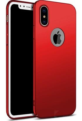 Lorexpress Apple iPhone X Premium Rubber Mat Silikon Kılıf- Kırmızı