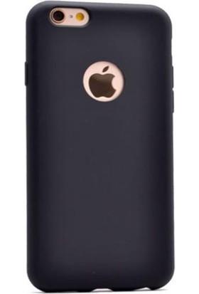 Lorexpress Apple iPhone 6/6S Premium Rubber Mat Silikon Kılıf- Siyah
