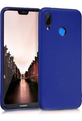 Lorexpress Huawei P20 Lite Premium Rubber Mat Silikon Kılıf-Mavi