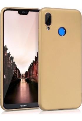 Lorexpress Huawei P20 Lite Premium Rubber Mat Silikon Kılıf-Gold