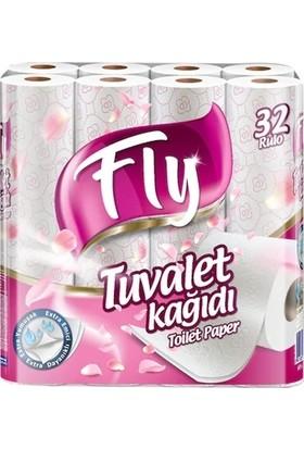 Fly Tuvalet Kağıdı Pembe Desenli 32'li Çift Kat