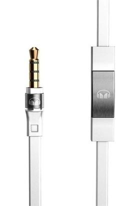 Monster Aux ve Kulaklık Kablosu Mikrofonlu (3.5mm Jak) - Beyaz